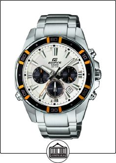 Casio  0 - Reloj de cuarzo para hombre, con correa de acero inoxidable, color plateado de  ✿ Relojes para hombre - (Gama media/alta) ✿