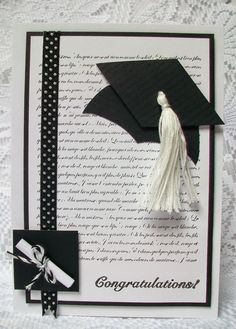 Handmade graduation card in a box popup by for Graduation mortar board template