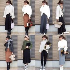 Pin by きなこもち on レディース ファッション Japan Fashion, Work Fashion, Skirt Fashion, Fashion Outfits, Womens Fashion, Fashion Trends, Pretty Outfits, Fall Outfits, Looks Vintage