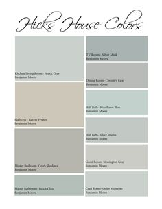 Hicks House | Color Scheme