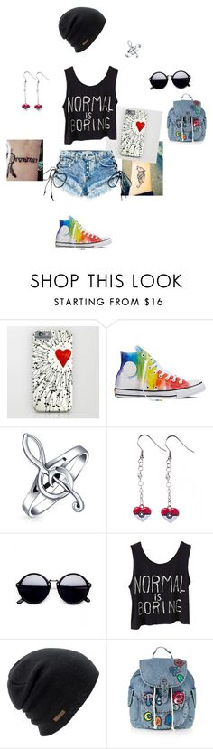 """Sans titre #8"" by sawako3112 on Polyvore featuring mode, Converse, Bling Jewelry, Coal et Topshop"