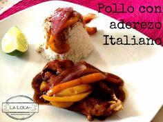 Pollo con aderezo italiano