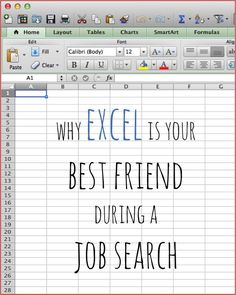 Why Excel Is Your Best Friend During A Job Search. SUCH an easy way to have all of your job search research organized and collected! #productivity Productivity Tip #productive