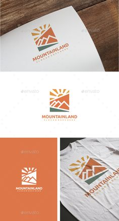 Mountain Adventure Logo by 3ab2ou �20Fully Editable Logo �20EPS 10, EPS and AI CS6 files �20CMYK �20Easy to Change Color and Text �20Font information at the Help fil