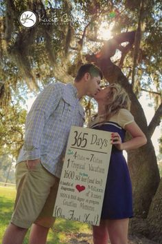 1 year Wedding Anniversary with all the events of our first year. Kacie Rogers Photography