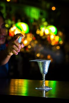 To drink, there's truly an endless array of high-quality (and high taste) rum and gin. The short but strong menu features zingers like The Merchant made with coffee, spices and almond — think elegant Espresso Martini, if you will. #gin #ginlovers #martini #cocktails #drinks #london #bestbars #bars #booze #liquor