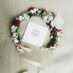 Handmade flower crown from Vienna. ❤ Exclusive custom made wedding crowns for brides ❤ Blumenkranz handgemacht in Wien anfertigen lassen. Winter Wedding Hair, Boho, Handmade Flowers, Flower Crown, Wedding Hairstyles, Floral Wreath, Bridesmaid, Design, Getting Married
