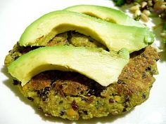 Lentil Quinoa Burgers  2 cups cooked lentils (save the liquid)  1 carrot, chopped  1 cup fresh parsley  1/2 tsp dried cilantro  1/2 tsp sea salt  4 Tbsps. lentil cooking liquid (or water)  1/2 cup raw sunflower seeds  1 1/2 - 2 cups cooked quinoa