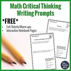 In this NO-PREP sample resource, students will develop reflective and independent thinking, while connecting mathematical ideas. This is READY TO PRINT and will KEEP STUDENTS ENGAGED while deepening their understanding! There are FOUR prompts included! Geometry Vocabulary, Geometry Proofs, Geometry Worksheets, Math Lesson Plans, Math Lessons, Math Writing, Math Literacy, Math Math, Homeschool Math