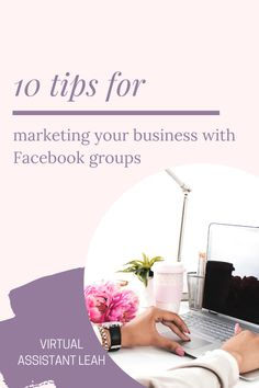 Facebook Groups is an effective tool for marketing your business, try these 10 tips to help you grow your business and Facebook page. Facebook Marketing Strategy, Email Marketing, Social Media Marketing, Using Facebook For Business, How To Use Facebook, Business Tips, Online Business, How To Get Clients, Business Inspiration