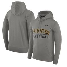 Pittsburgh Pirates Nike Pullover Hoodie - Heathered Gray
