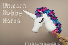 DIY Unicorn Hobbyhorse