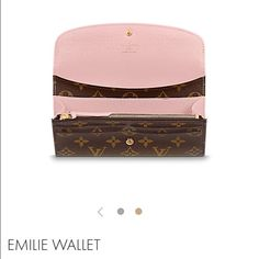 be3d0fd9f418 Louis Vuitton Emilie Wallet in Rose Ballerine Available in 2 weeks! New in  box comes