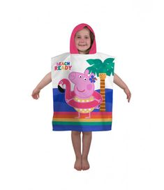 This Peppa Pig Hooray Hooded Towel Poncho is ideal for keeping your child warm and dry after bath time or a swim. You can even use it to get changed under when in a public place like the beach. Free UK delivery available.