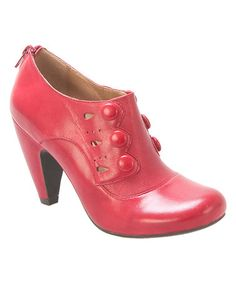 Look what I found on #zulily! Red Sylvia Leather Bootie #zulilyfinds