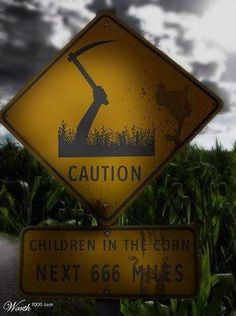 The Children of the Corn movies are the reason I'm afraid of corn fields...I will never go to Nebraska, Lol...
