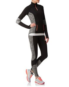 Thermal leggings designed for style and comfort during cold weather training, you'll want to wear the Trail Training Tights for everything from impromptu jogs between weekend errands to the most dedicated training runs. Brushed back fabric feels warm and soft on skin while super flattering space dye panels sculpt and elongate the legs. Nighttime practicality is also covered, with discreet reflective tape shining bright when the sky grows dark.