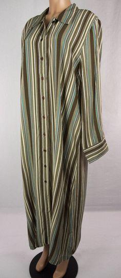 ULLA POPKEN New Shirt Dress Plus Size 16/18 1X Striped NWOT #UllaPopken #ShirtDress #Casual