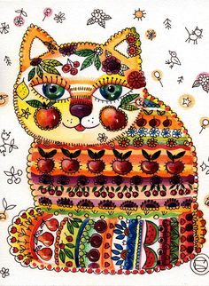 ♥ 'Deco Cat' by Oxana Zaika.