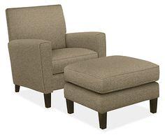 Harper Chair & Ottoman - Chairs - Living - Room & Board