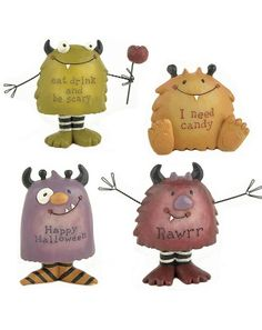 Halloween-Monsters-Stripes-Figurine  $20.00