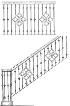 Outdoor Handrailing, Hand Forged Iron, Wrought Iron Railing, Handmade In America Since Staircase Outdoor, Staircase Handrail, Stair Railing Design, Railing Ideas, Wrought Iron Stairs, Iron Gate Design, Iron Balcony, Interior Stairs, Balcony Design