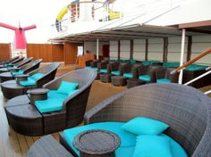 "Carnival Dream - these are so calling my name!! Serenity ""Adults Only"" Retreat on Carnival Dream!"