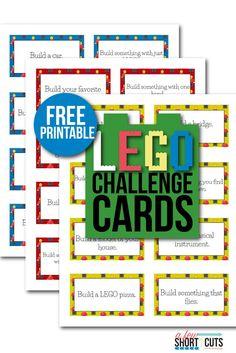 Super Card Games For Kids Lego Challenge Ideas Lego Activities, Lego Games, Lego Toys, Steam Activities, Lego Math, Lego Craft, Lego Lego, Lego Batman, Lego Ninjago