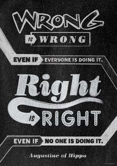 Wrong is wrong even if… Inspire U Poster by Creative Teaching Press. NEW Inspirational posters