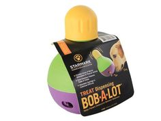 StarMark Bob-A-Lot Interactive Pet Toy, Large: Holds up to 3 cups. People have used this to feed their dogs dinner so they don't eat so fast.