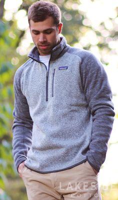 Patagonia Men's Better Sweater® 1/4-Zip Fleece in Nickel w/ Forge Grey | Lakeside Cotton