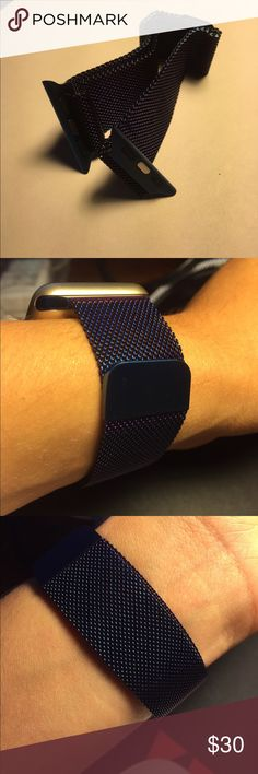iWatch Stainless Steel Replacement Band Blue 38mm Band 42mm Band Blue Match Perfect iWatch and iPhone Stainless Steel Milanese Magnetic Loop Adjustable to fit your wrist Amazing High Quality Comes in Retail Box Free Shipping All items Ships Next Business Day Accessories Watches