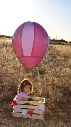 Diy mache paper hot air ballon photo prop #abby