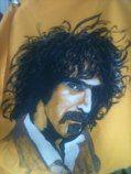 """ZAPPA"" (80x80, fabric paint by Aagot.no) #frankzappa #zappa #aagotno #art"
