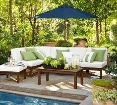 PB Classic Stripe Indoor/Outdoor Pillow. Outdoor LoungeOutdoor Seating.