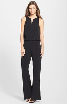 Laundry by Shelli Segal Lace Cowl Back Blouson Jumpsuit available at #Nordstrom