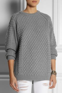 Chinti and Parker|Lattice and cable-knit merino wool sweater|NET-A-PORTER.COM