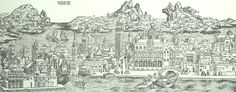 Venice in 1493 Antique Reproduction Map $27.50