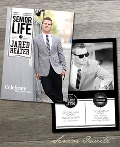 Senior Announcement Card Template Times Change D  X Graduation