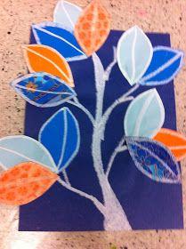 Drip, Drip, Splatter Splash: Complimentary Color Leaves