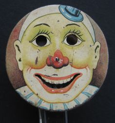 Vintage RARE Halloween Tin Litho Toy Sparkler Circus Clown Germany   eBay