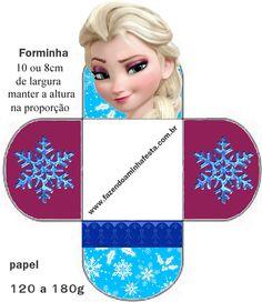 Molde Forminha de Docinhos Frozen - Elsa Pastel Frozen, Cute Frozen, Frozen Movie, Disney Frozen, Ana Frozen, Frozen Birthday Party, Frozen Party, Free Printable Invitations, Free Printables