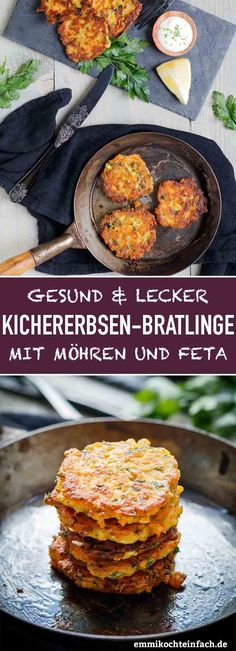 Chickpea patties with carrots and feta - Emmikochteinfac .- Kichererbsen Bratlinge mit Möhren und Feta – emmikochteinfach Chickpea patties with carrots and feta cheese – easy to cook - Healthy Recipes, Baby Food Recipes, Greek Recipes, Delicious Recipes, Chickpea Patties, Queso Feta, Maila, Healthy Protein, Ground Beef Recipes