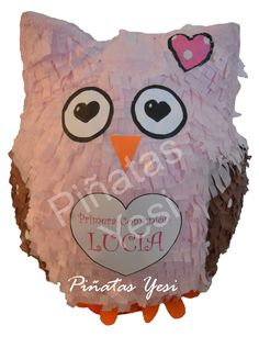 Piñata Artesanal hecha a mano de Buho.