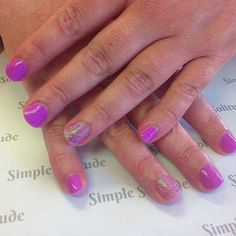 Purple and GLITTER! The best two combos