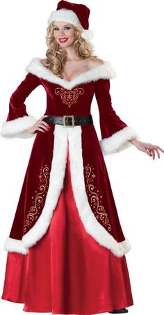 Mrs. Claus Costume is perfect for Christmas morning or for Christmas parties!  After all, why should Santa get to have all of the fun.