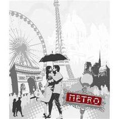 Sticker lave vaisselle - I love paris