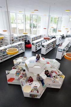 Documentation Of The Interior At Ørestad School And Library Designed By  Claus Bjarrum Arkitekter.