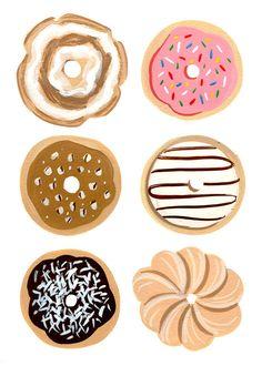 Half A Dozen Donuts Print