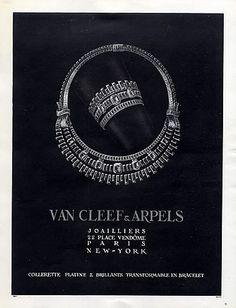 Van Cleef & Arpels (Jewels) 1948 Necklace Bracelet Art Deco